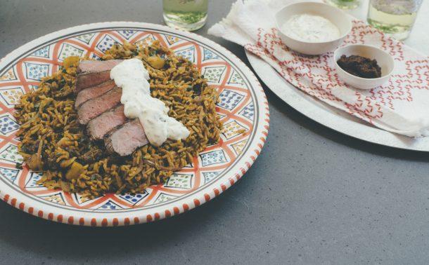 モロッコ風ラム肉のマカダミアピラフ